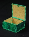 green box with open lid